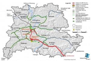 Ein Ausschnitt aus der Karte, die im Argumentationspapier des Verbandes Region Stuttgart enthalten ist