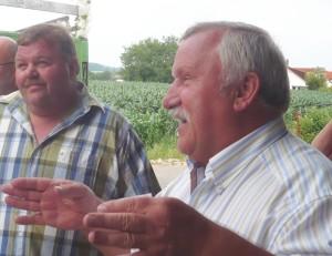 Hans Kurz und Werner Escher begrüßen die Gäste