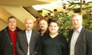Die Gemeinderatsfraktion der Freien Wähler: Peter Bürkle, Gerhard Waldbauer, Jürgen Geiger, Rainer Plessing, Michael Hörr (von links)