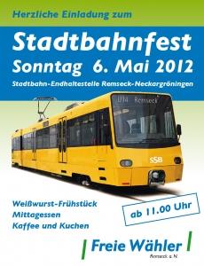 Einladung zum Stadtbahnfest 2012