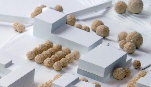 So stellt sich der Sieger des Ideenwettbewerbs eine künftige Bebauung des Rathausareals vor