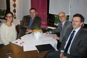 Die Remsecker Gruppe bei der Kreisversammlung: Heike Urfer, Peter Großmann, Josef Wittner und Ludwig Scherr (v. l.)