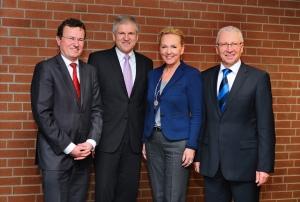 Die vier Erstplatzierten im Kreis Ludwigsburg: Rainer Gessler, Gerd Maisch, Gabriele Moersch, Karl-Heinz Balzer (v.l.)