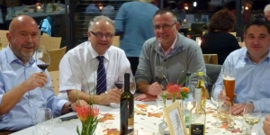 Die Fraktion hat den runden Geburtstag von Jürgen Geiger (zweiter von links) mitgefeiert.