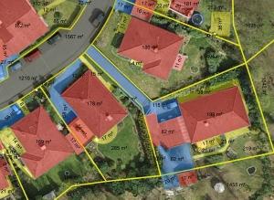 Die versiegelten Anteile der Grundstücke wurden aus eigens angefertigten Luftbildern abgeleitet