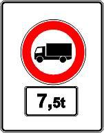 Ab Anfang 2017 werden solche Schilder den schweren Lkw-Verkehr an der Durchfahrt durch zwei stark belastete Straßen hindern