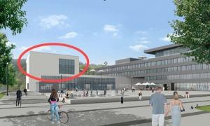 Um diesen Aufbau auf der geplanten Stadthalle geht die Diskussion: etwa 900 qm Fläche sollen dort für eine Mediathek entstehen